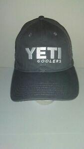 Yeti Coolers Baseball Cap Hat Adjustable Strap Gunmetal Grey 6 Panel Low Profile