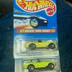 2 1995 HOT WHEELS Ford Shelby Cobra Roarin Rods Series 7 SPOKE DIFFERENT BASES