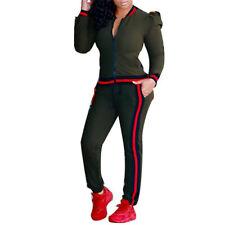 Women Tracksuit Bishop Sleeve Sweatshirt Pants Set 2Pcs Sport Wear CasualSuit WL
