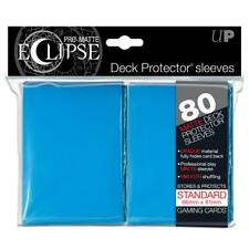 1 Pack 80 Ultra Pro-Matte Eclipse LIGHT BLUE Deck Protector Gaming Card Sleeves