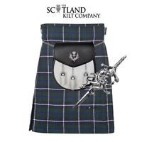 3 PIECE PACKAGE - 5 YARD KILT AND PIN AND SPORRAN -SIZES 30-44 - DOUGLAS BLUE