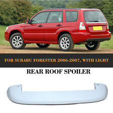 Auto Rear Trunk Spoiler Boot Wing with Light Refit Fit For Subaru Forester 06-07