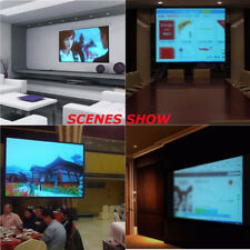 "60"" Electric Motorized Remote Projection Screen HD Movie Projector White 16:9"