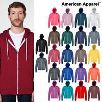 American Apparel hoodie (F497) - Plain zipped Hooded Sweatshirt - Unisex Hoody
