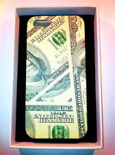 cover rigida iPhone 5 5s  slim raffigurante il dollaro  ultra compatta verde