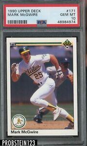 1990 Upper Deck #171 Mark McGwire Oakland A's PSA 10 GEM MINT