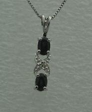 Markenlose Echtschmuck-Halsketten & -Anhänger mit Saphir-Hauptstein für Damen