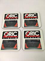 Oric Atmos Early Home Computer enthusiast COASTER SET