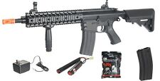 *435 FPS* Lancer Tactical M4 AEG Metal Gears Airsoft Rifle Gun + BATTERY Charger