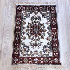 1.5x2 Small Oriental Craft Area Rugs Handmade Bedroom Classic Silk Carpets 116Ab