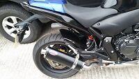 HONDA CB600F HORNET (2007-2013)  Black stainless oval road legal MTC Exhaust