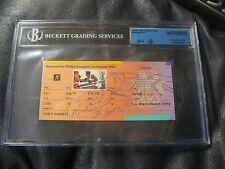 1984 LOS ANGELES SUMMER OLYMPICS Boxing Ticket Stub Muhammed Ali JSA Beckett