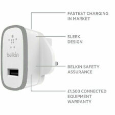 Belkin MIXIT 2.4A 12W USB Mains Adapter Charger - UK - Space Grey