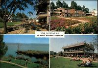 ISRAEL postcard ~ 1970 The Hotel in Kibbutz Ginosar on Lake of Galilee unused AK