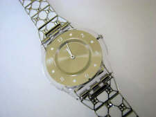 ELEGANTLY FRAMED! Elegant Swatch SKIN with TILED Bracelet & Crystals! NIB-RARE!