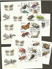 #3351 a-t 33c Insects & Spiders Full Set on 5 Artmaster FDCs