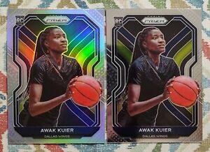 2021 Panini Prizm WNBA Awak Kuier RC Silver Holo #90 Lot of 2