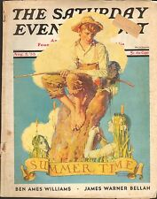 AUG 5 1933 SATURDAY EVENING POST magazine - NORMAN ROCKWELL - SUMMER