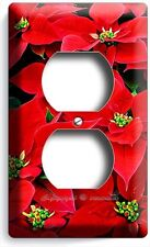 POINSETTIA CHRISTMAS HOLIDAY FLOWERS DUPLEX OUTLET WALL PLATE COVER HOME DECOR