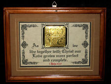 "New Bible Verse Plaque/Signs""AS WE LIVE TOGETHER wCHRIST""Embossed""LOVE""~Gift $35"