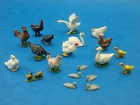 Vintage LEAD ANIMALS Metal Birds Geese Chickens etc Lot Britains John Hill
