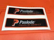 2 PASLODE NAIL GUN NAILER BODY STICKER DECAL LABELS FOR THE IM350