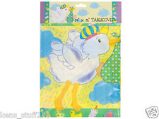 """Stork Baby Shower Table Cover, Mother Goose, New Baby Table Cloth  54"""" x 72"""" -2p"""