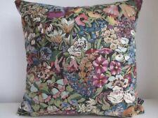 Liberty Cottage Garden Cotton Violet Velvet Fabric Vintage Retro Cushion Cover