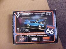 6 NEW 1:64 SCALE CRYSTAL CLEAR ACRYLIC DISPLAY CASES MATCHBOX HOT WHEELS NASCAR