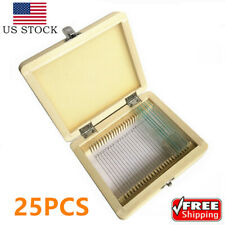 Microscope Slide Box Case Wooden Storage Box With Slides