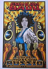 Erykah Badu - Live in Moscow 2008 - Tour Advertising Poster - 10x14