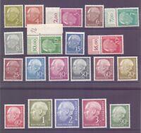 Bund 1954 - Theodor Heuss - MiNr. 177/196 postfrisch** - Michel 300,00 € (092)
