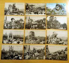 Lot of 12 Antique & Vintage Postcards ALL CARNAVAL DE NICE, FRANCE Floats PARADE