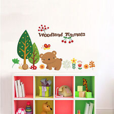 Bambini Adesivo Muro Camera Da Letto Bambini BABY ROOM Foresta ANIMALE BEAR GUFO BEE Fox UK