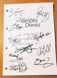 Copione Episodio Pilota The Vampire Diaries con repliche autografi Damon Stefan