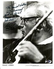 ISAAC STERN Violinist autographed photograph