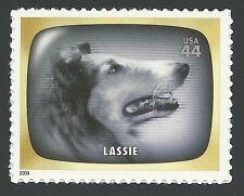 LASSIE 1950's Television TV Show June Lockhart Jon Provost Collie Dog Stamp MINT
