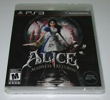 Alice: Madness Returns for Playstation 3 PS3 Brand New! Factory Sealed