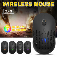 2.4GHz Wiring Gaming Mice Mouse 1600DPI Rechargeable RGB Backlit for PC Laptop
