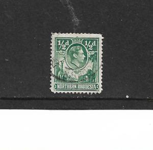 1938 NORTHERN RHODESIA - KING GEORGE V1 - SINGLE STAMP - USED.