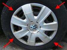 "VW POLO 2013 14"" 6R rifiniture ruota Hub Caps Autentico Argento Originale Set di 4"