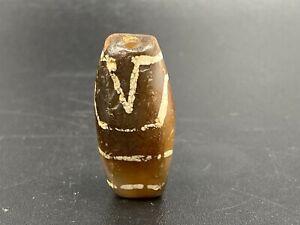 Old Himalayan Indo Tibetan Phum Dzi  Rare Spiritual Pendant Antique Amulet Bead