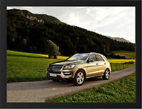 2013 MERCEDES ML NEW A3 FRAMED PHOTOGRAPHIC PRINT POSTER