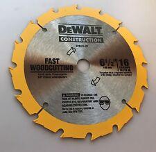 """Dewalt DCS393 6 1/2 Cordless Circular Saw 20v 6-1/2"""" 16 teeth Blade"""