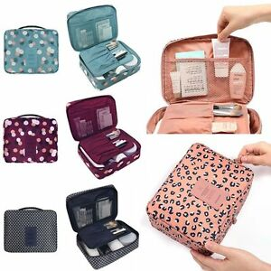 Women Girl Portable Makeup Cosmetic Case Toiletry Organizer Pouch Storage Travel