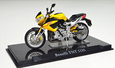 BENELLI TNT 1130 Amarillo Escala 1:24 modelo de motocicleta de Atlas die-cast