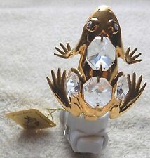Kg&C Inc. Australian Crystal and 24k Gold Plated Frog Night Light Free Shipping