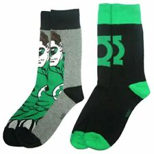 DC Comics Green Lantern Character Assorted Crew Socks 2 Pairs - UK 6-11