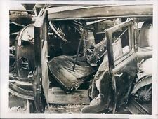 1937 Press Photo Griffin Holt Auto After Collision With Train in Georgia 1930s