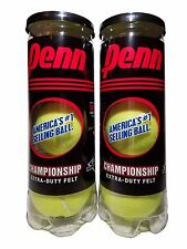 Penn Championship Tennis Balls 2 Cans Extra Duty Felt 6 Ball Pack